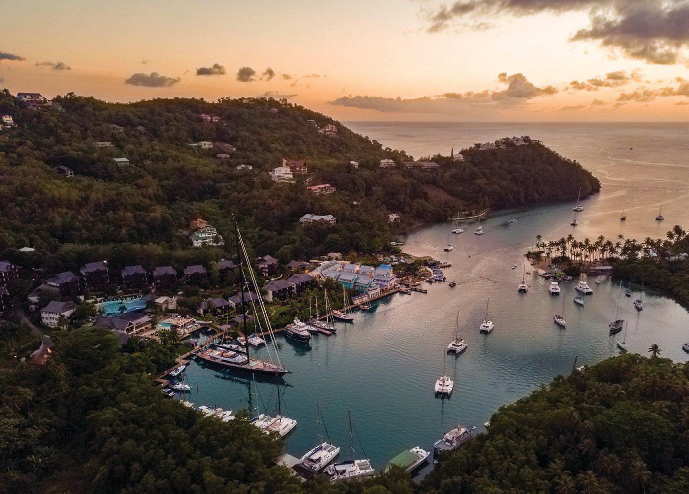 On the Marigot Bay Ridge Climb, located across the bay, enjoy spectacular views of Marigot Bay as you hike PHOTO BY ROBERT RECK/COURTESY OF MARIGOT BAY RESORT AND MARINA